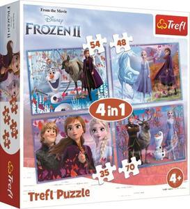 Obrázok Puzzle Ledové království 2 Cesta do neznáma 4v1