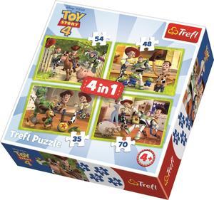 Obrázok Puzzle Toy Story 4 Příběh hraček 4v1