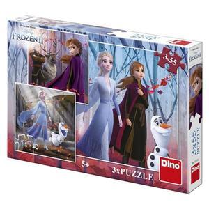 Obrázok Puzzle Frozen II Zimní radovánky 3x55 dílků