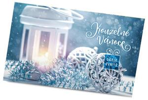 Obrázok Pohled s dárkem Kouzelné Vánoce