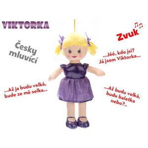 Obrázok Panenka Viktorka hadrová mluvící fialová