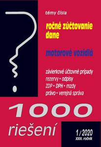 Obrázok 1000 riešení Ročné zúčtovanie dane, motorové vozidlá (1/2020)
