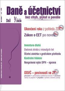Daně a účetnictví bez chyb, pokut a penále 1/2020 (XXI. ročník)