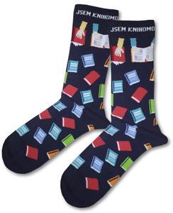 Obrázok Knihomolské ponožky - modré vel. 35-38