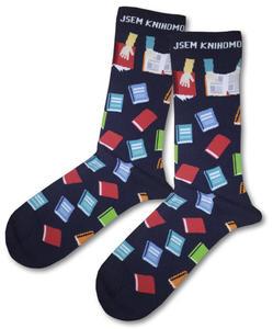 Obrázok Knihomolské ponožky – modré vel. 39-42