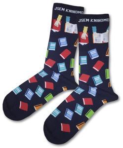 Obrázok Knihomolské ponožky – modré vel. 43-46