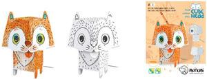 Obrázok 3D Kočka k vymalování