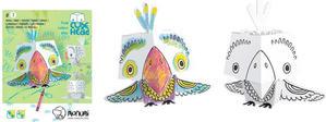 Obrázok 3D Papoušek k vymalování