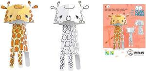 Obrázok 3D Žirafa k vymalování