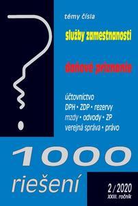 Obrázok 1000 riešení Služby zamestnanosti, daňové priznanie (2/2020 XXIII. ročník)