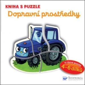 Obrázok Kniha s puzzle Dopravní prostředky