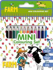 Obrázok Mini blok s pastelkami Farma