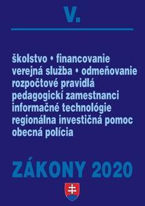 Obrázok Zákony 2020 V. (Verejná správa a samospráva k 1.1.2020)