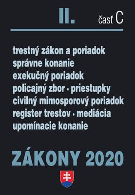 Obrázok Zákony 2020 II. časť C (Trestné zákony úplné znenie k 1.1.2020)