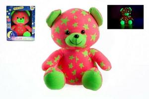 Obrázok Medvídek svítící ve tmě růžový/zelený