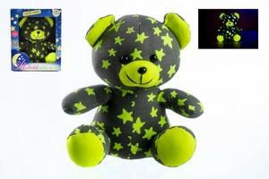Obrázok Medvídek svítící ve tmě šedý/žlutý