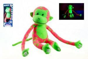 Obrázok Opice svítící ve tmě plyš růžová/zelená