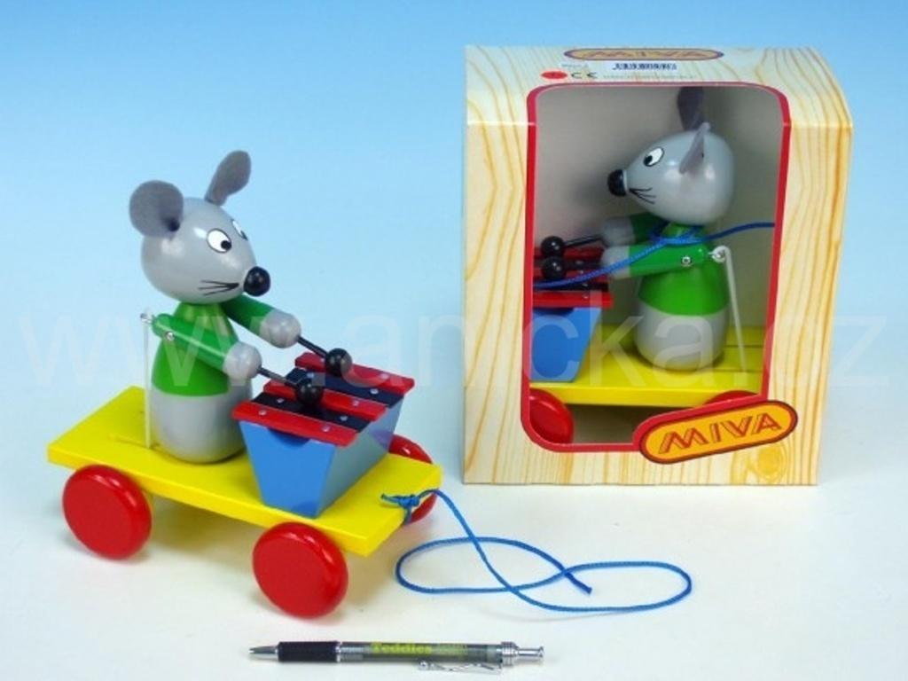 Myš s xylofonem tahací