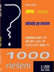 Obrázok 1000 riešení DPH - novela, odvody po novom (XXIII. ročník 3/2020)
