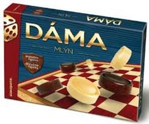Obrázok Dáma a Mlýn společenská hra v krabici