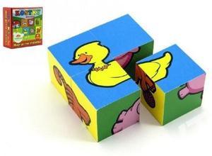 Obrázok Kostky Moje první zvířátka dřevo 4ks v krabičce