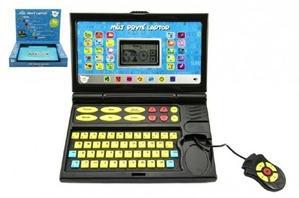 Obrázok Můj první laptop/notebook černomodrý na baterie se zvukem v krabici