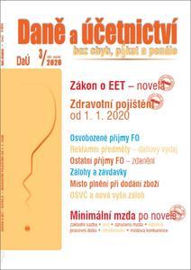 Obrázok Daně a účetnictví bez chyb, pokut a penále 3/2020 (XXI. ročník)