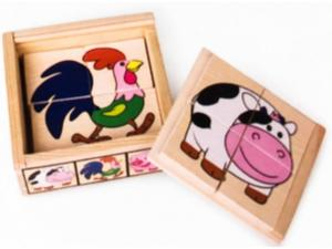 Obrázok Dřevěné puzzle Moje první zvířátka Statek