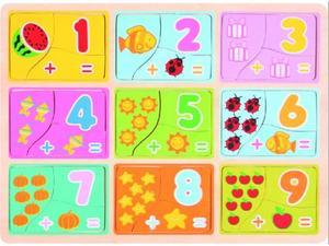 Obrázok Dřevěné puzzle Počítání