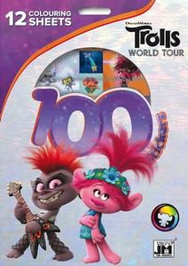 Obrázok 100 samolepek s omalovánkovými listy Trollové 2