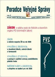 Obrázok Poradce Veřejné Správy Zákon o výběru osob do řídících a dozorčích orgánů PO (číslo 3 2020)