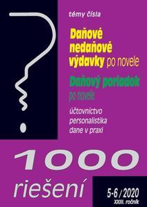 Obrázok 1000 riešení Daňové nedaňové výdavky po novele, Daňový poriadok po novele (5-6/2020 XXIII. ročník)