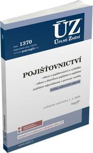 Obrázok ÚZ 1370 Pojišťovnictví, pojištění odpovědnosti z provozu vozidla