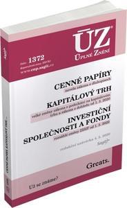 Obrázok ÚZ 1372 Cenné papíry, Kapitálový trh, Investiční společnosti a fondy
