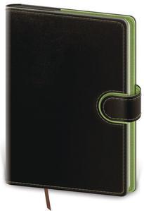 Diář 2021 týdenní A5 Flip - černo/zelená