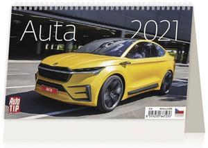Auta - stolní kalendář 2021