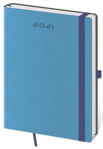 Diář 2021 denní A5 Flexies - modrá