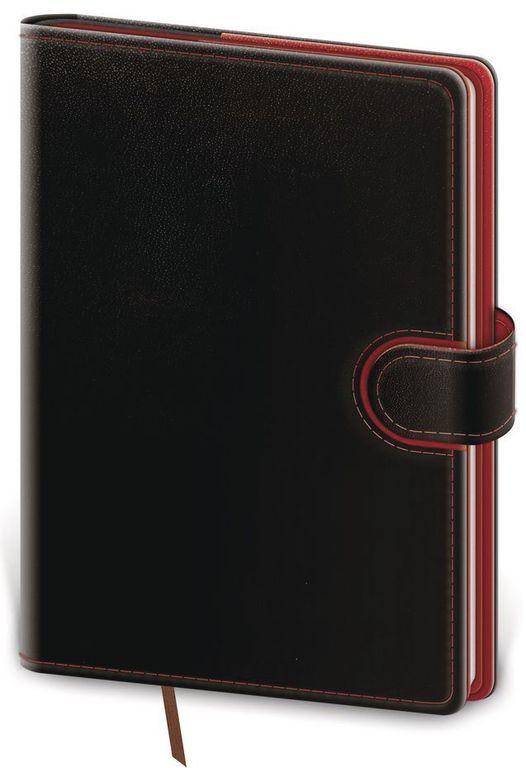 Diář 2021 denní A5 Flip - černo/červená