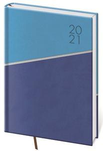 Obrázok Diář 2021 denní A5 Line - modrý