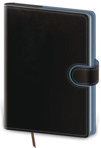 Diář 2021 týdenní A5 Flip - černo/modrá