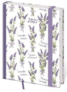 Diář 2021 denní B6 Vario - Lavender s gumičkou