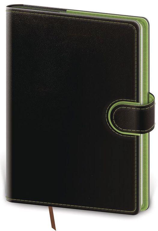 Diář 2021 denní A5 Flip - černo/zelená