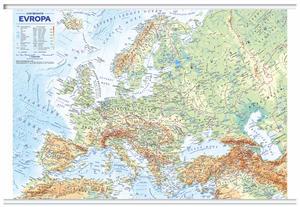 Obrázok Evropa nástěnná obecně zeměpisná mapa