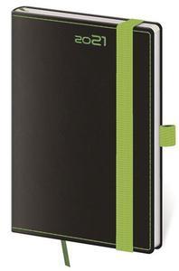 Obrázok Diář 2021 týdenní kapesní Black Green s poutkem ne propisku