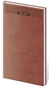 Diář 2021 týdenní kapesní Print - anglická červená