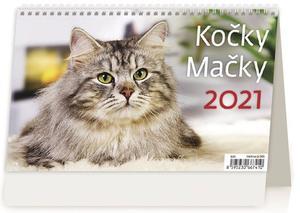 Obrázok Kočky/Mačky - stolní kalendář 2021