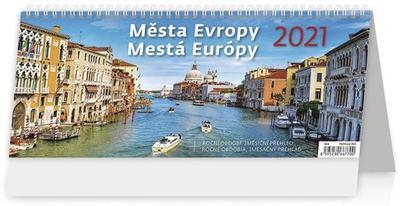 Obrázok Města Evropy/Mestá Európy - stolní kalendář 2021