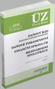 Obrázok ÚZ 1375 Daňový řád, Prominutí daní a dalších náležitostí, Finanční správa