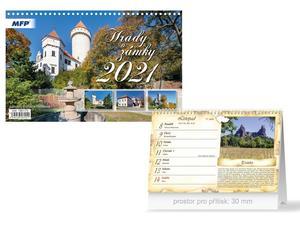 Obrázok Hrady a zámky - stolní kalendář 2021