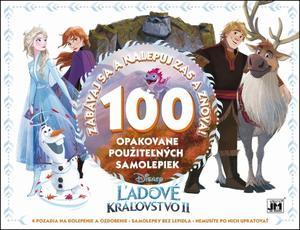 Obrázok 100 opakovane použiteľných samolepiek  Ľadové kráľovstvo II